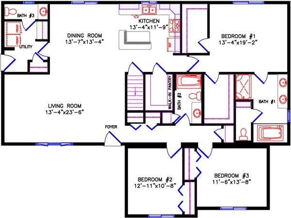 Ranch for Raised ranch floor plan