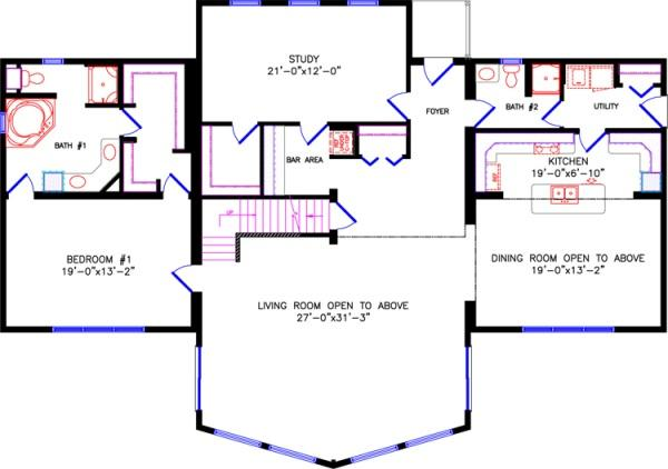 28x36 2 story house plans 28x30 house plans house design for Two story loft floor plans