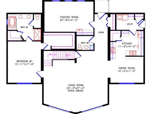 Chalet for 2 bedroom chalet plans