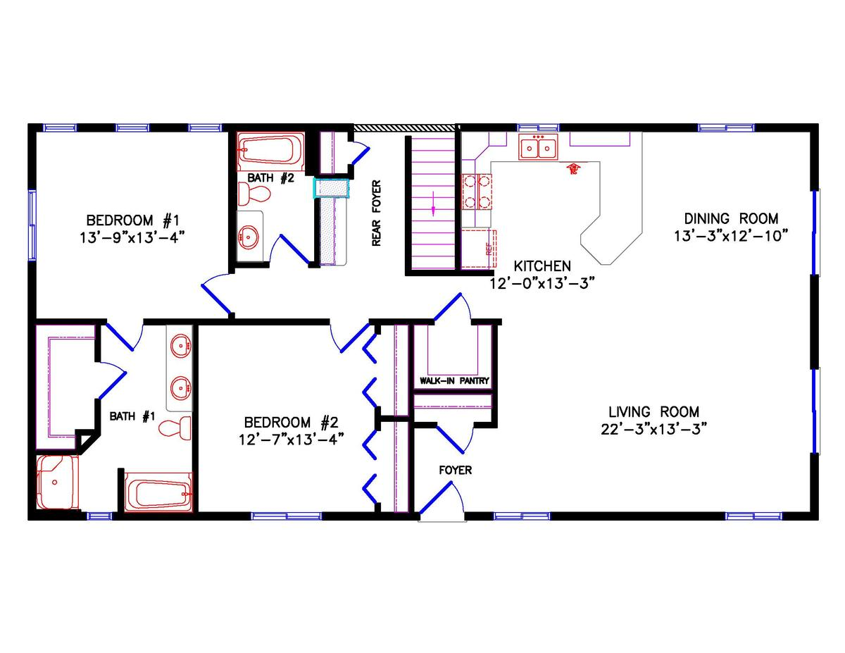 Cottage for 24x40 2 bedroom house plans