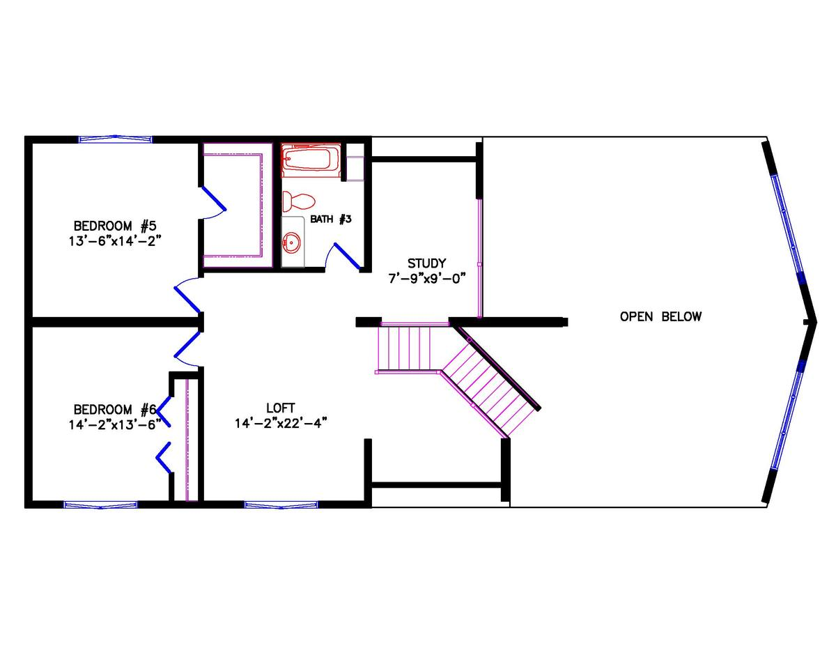 Chalet house plans with loft Plan chalet