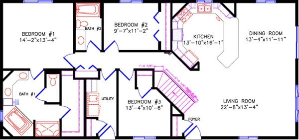 2000 lakewood for Marshfield homes floor plans