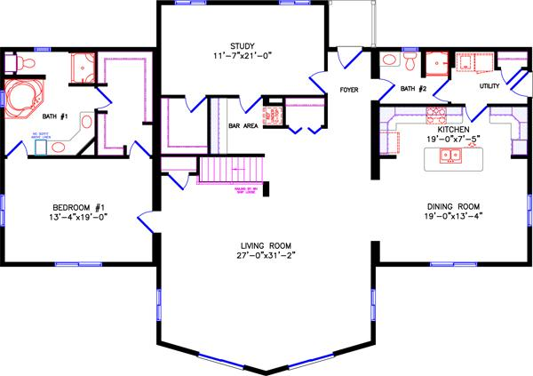 Bathroom Under Stairs Floor Plan