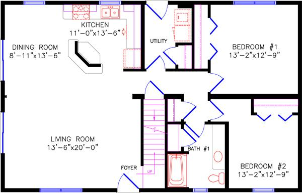 Chalet for One bedroom loft floor plans