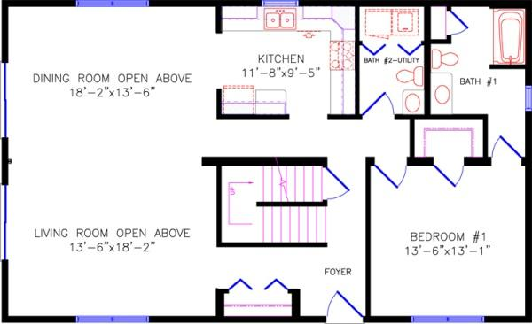 Chalet Awesome First Floor Master Bedroom Floor Plans Concept Design