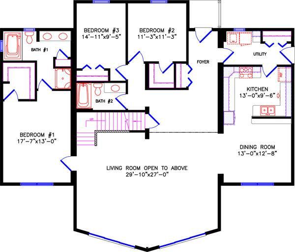 Upper Level Alt. Plan 4765 LOFT 56u0027x48u0027|2130 Sq Ft