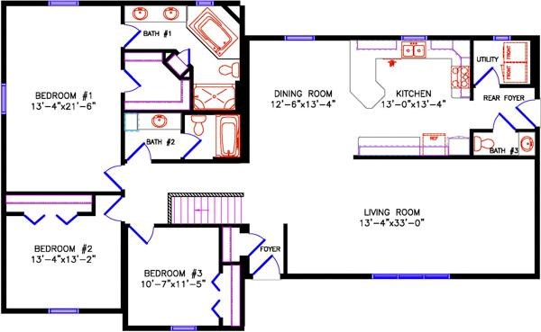 Ranch Ranch House Floor Plans X on 28x36 house plans, 28x50 ranch house floor plans, 24x48 house plans, 24x40 house plans, open floor plans, simple ranch floor plans,