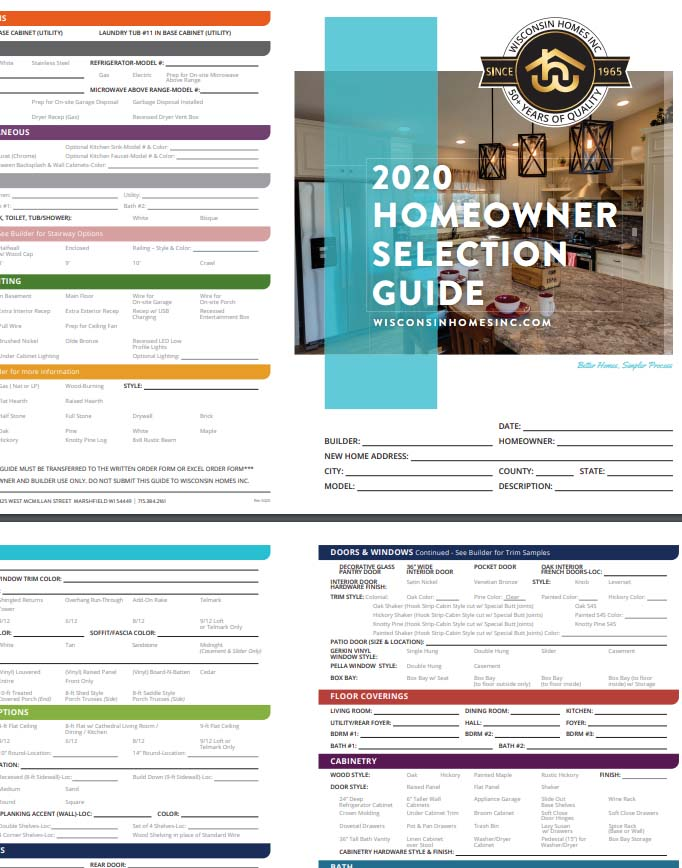 Home Owners Selection Guide Form